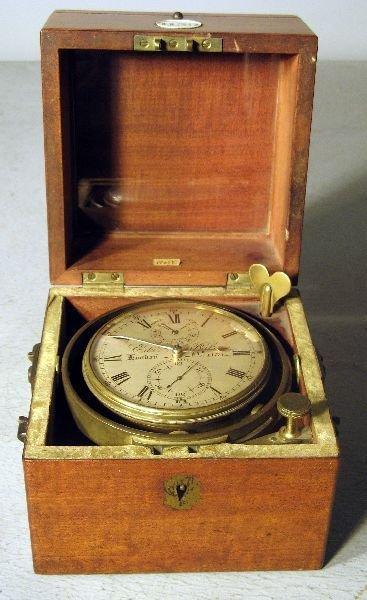 1169: Early 19th century mahogany cased marine