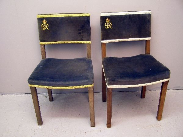 & 1327: Pair of George VI Coronation chairs
