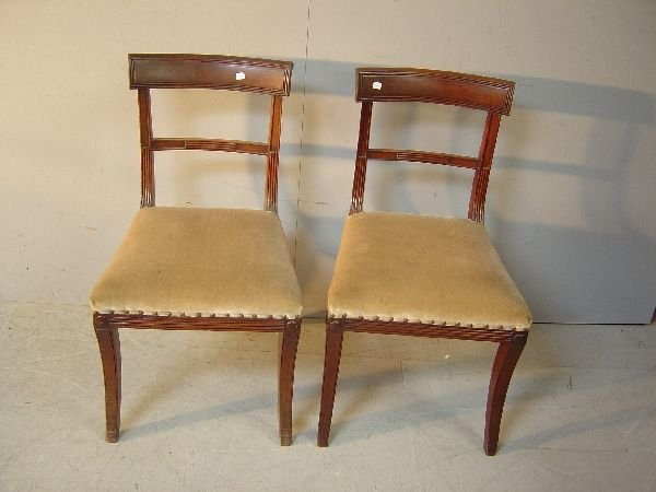 1: Set of four bar-back dining chairs