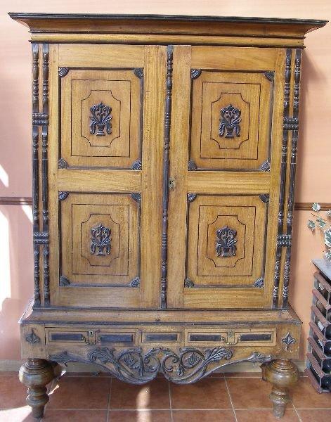 8: Mid-19th century Sri Lankan livery cupboard