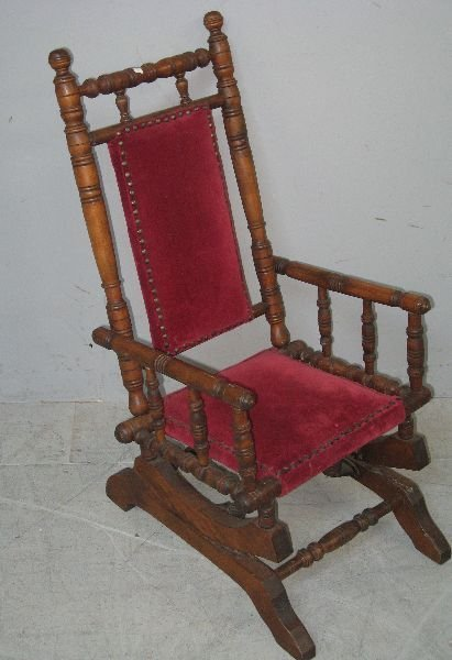 14: Late Victorian child's rocking chair with