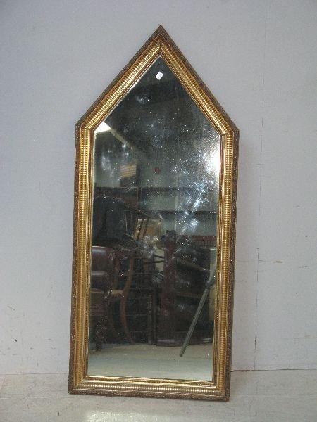20: Gilt gesso mirror with triangular pediment