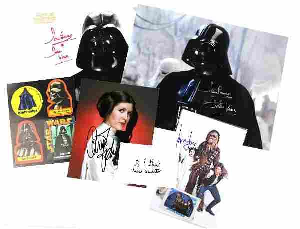 Star Wars Ð 5 signed items including pho