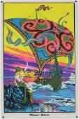 5 x circa 1970s Psychedelic blacklight p