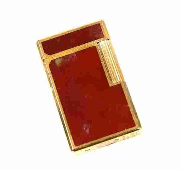 Costume jewellery including vintage red enamel Dup