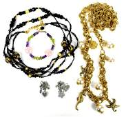 Large collection of costume jewellery, including t