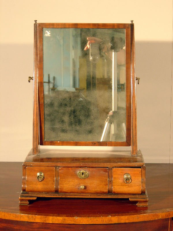 11: Walnut dressing table mirror in Queen Anne style, t
