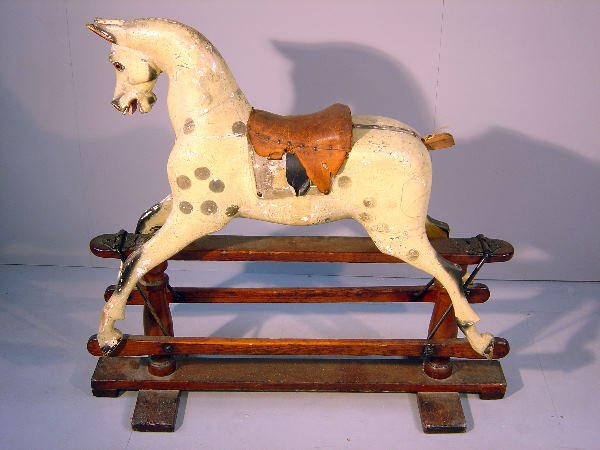 26: Late 19th/early 20th century rocking horse, a dappl