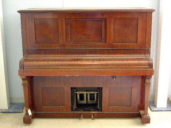 """27: Boyd Terpretor Pianola, in mahogany case, 59""""; and"""