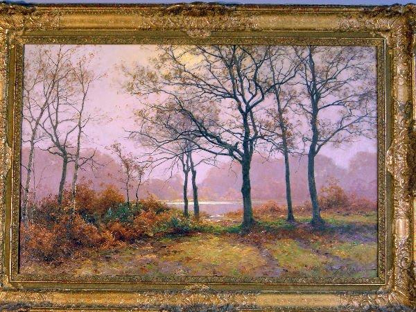 711: A. Rigolat: Autumnal woodland landscape, signed, o