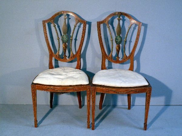 2: Pair of Sheraton revival chairs