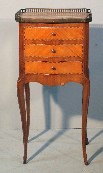 5: Mahogany and kingwood serpentine bedside