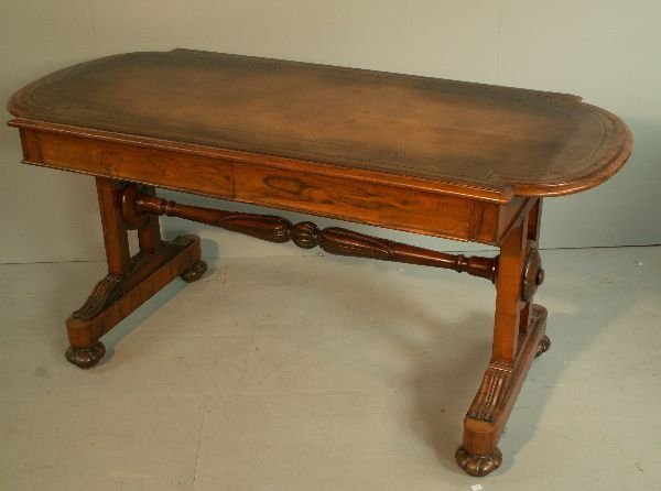 7: William IV rosewood library table, the