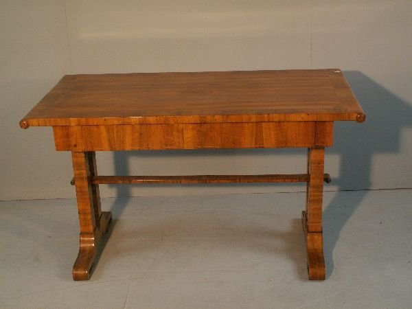 9: 19th  century German walnut and crossbanded