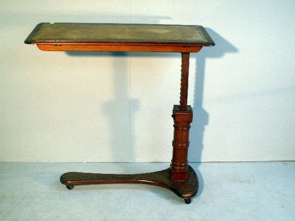 17: Mahogany adjustable reading table