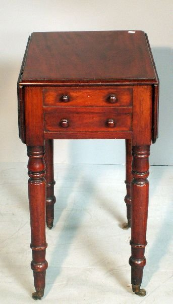 24: 19th century mahogany worktable