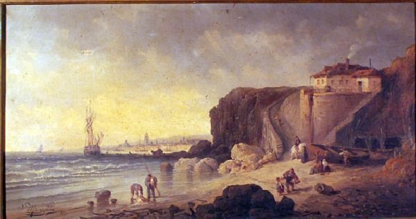 668: J. Mazetta 1877, Shore scene