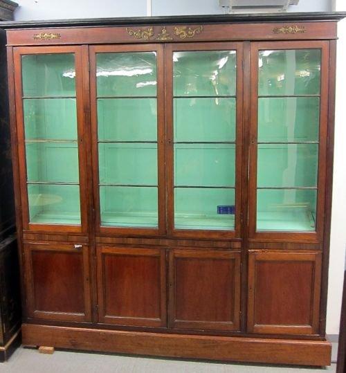19th century mahogany and glazed bookcase cabinet 86