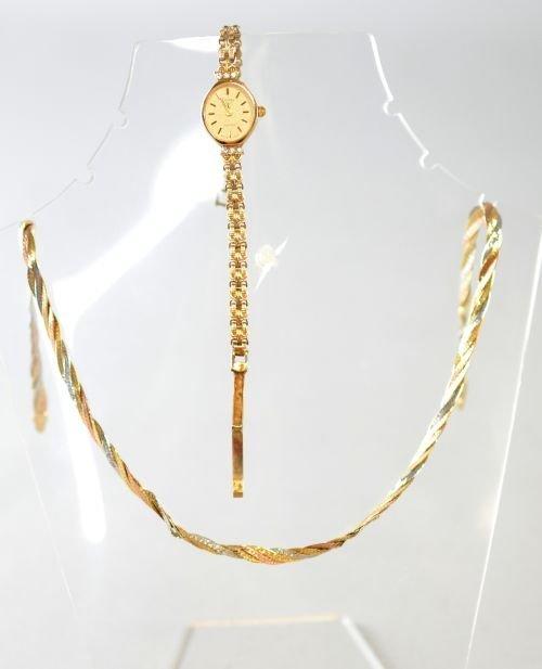 Gold Rotary bracelet watch