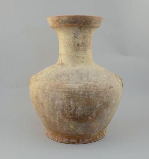 Large Chinese pottery vase, globular body with waisted