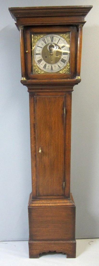 18th century oak longcase clock by Jonas Barber of Ratc