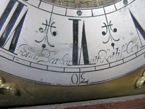 18th century oak longcase clock by Jonas Barber of Ratc - 3