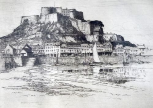 S.G. Rowles - etching, pilot ship leaving Dover harbour - 3