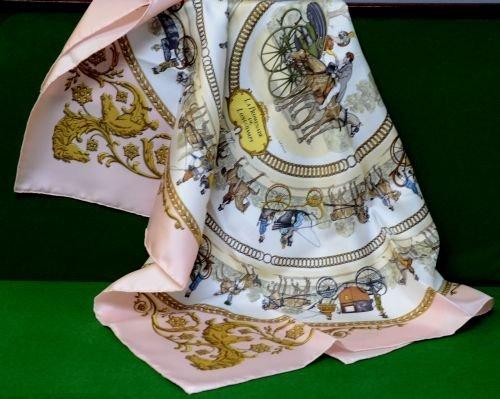 Hermes Paris silk scarf 'La Promenade De Longchamps',