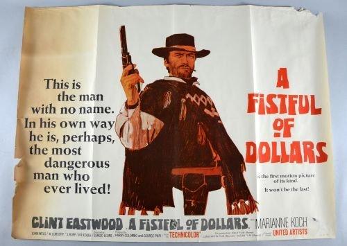 A Fistful Of Dollars (1964) British Quad film poster, W