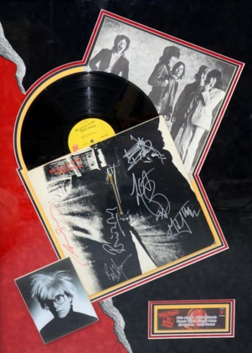 Rolling Stones, Sticky Fingers signed Lp, COC 59100 wit