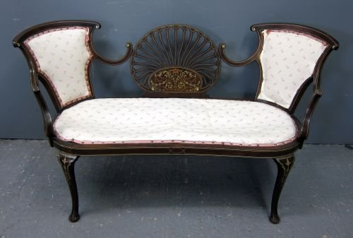20th century two seater inlaid settee
