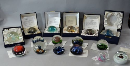 Collection of Caithness glass paperweights(17) to inclu