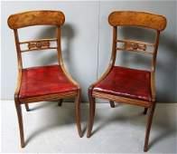 Set of six Regency mahogany bar back dining chairs,