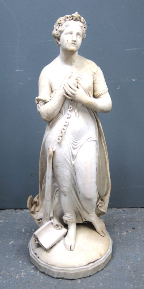 Giovanni Maria Benzoni, carved marble figure of a lady