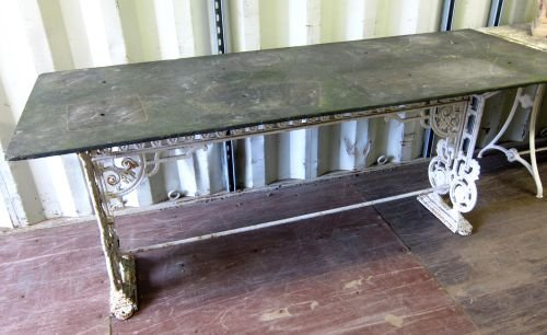 19th century cast metal table base decorated with
