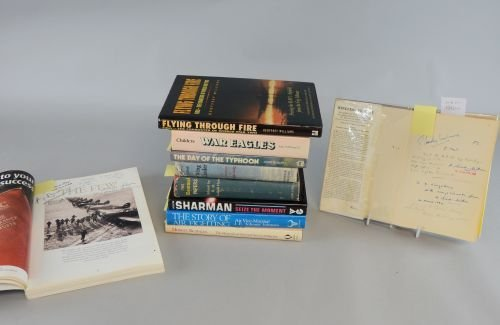 Ten books mainly on the RAF with some signed by the