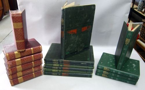 A number of early 20th c book bindings , Thompsons