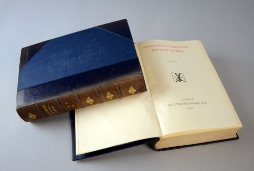 Swinburne's Poetical Works Vol I and II, published by