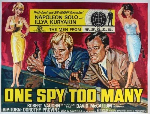 One Spy Too Many (1966) British Quad film poster,