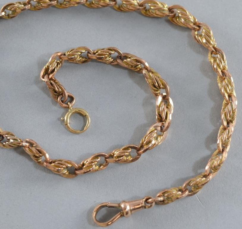 Two 9ct gold bracelets formed from a Victorian watch