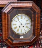 Nineteenth century French rosewood cased wall clock by
