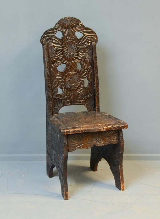 Early twentieth century Chinese carved chair