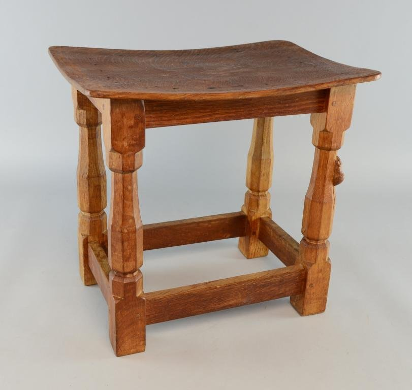 Robert Thompson Mouseman of Kilburn oak joint stool 15