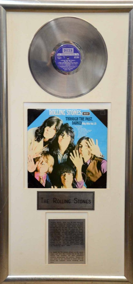 The Rolling Stones, a presentation record display for