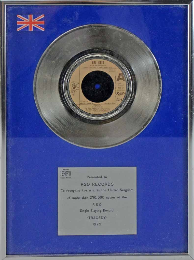 The Bee Gees, A presentation BPI single record for