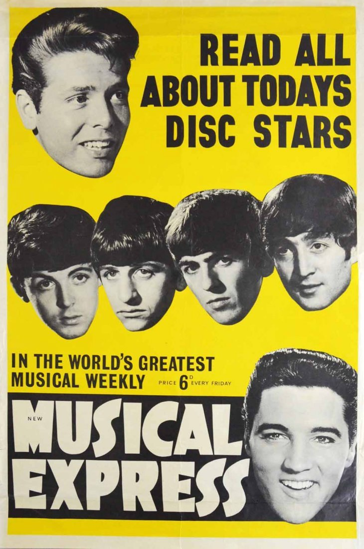 The Beatles, Elvis, Cliff Richard New Musical Express