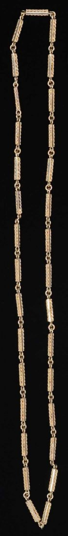 Gold chain , with rope and bar links, 31.4 ram ,