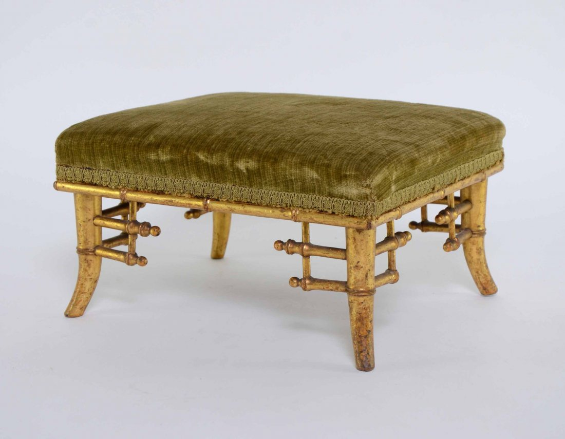Regency carved oak and gilded chinoiserie style