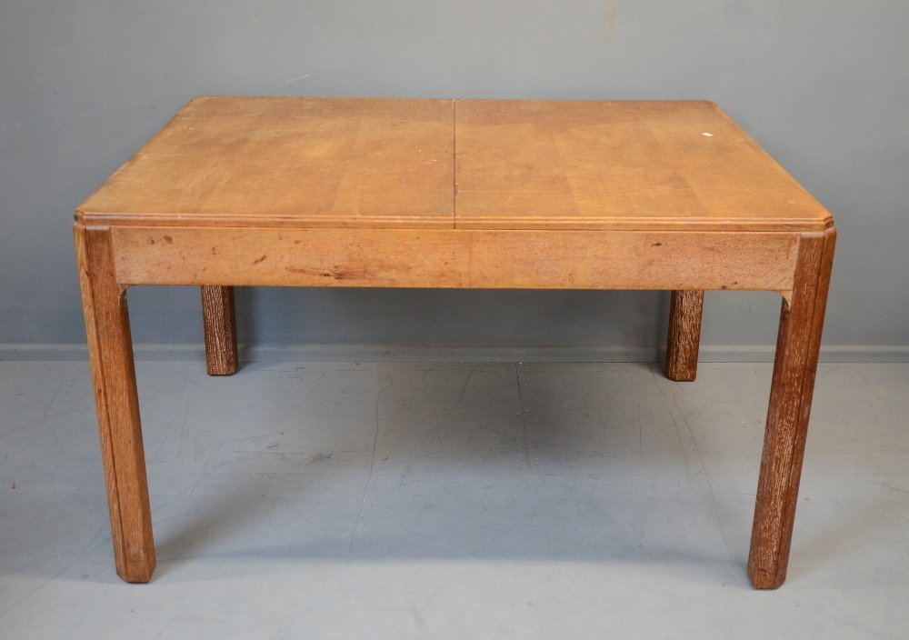 Heals of London limed oak extending dining table in the