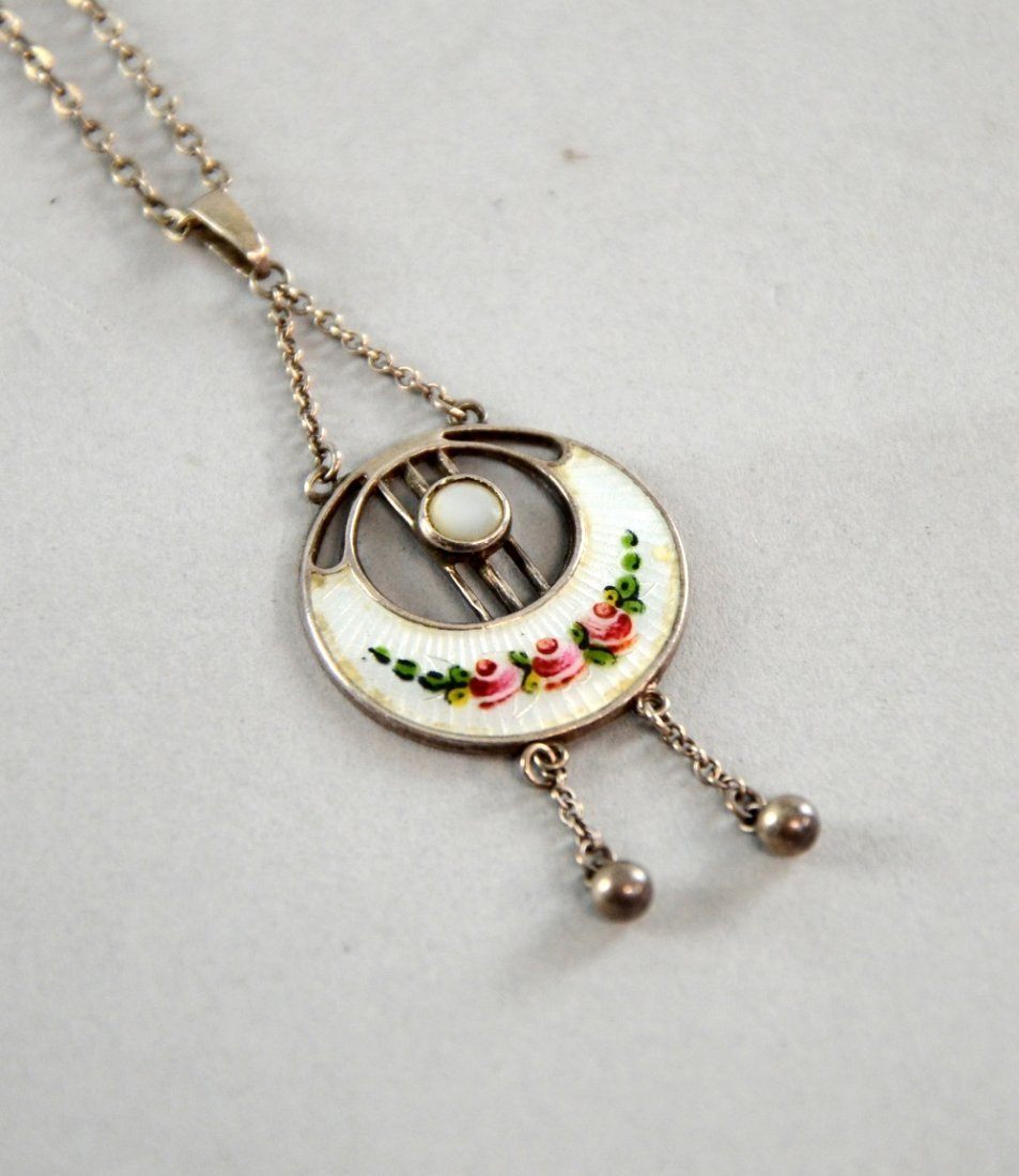 Charles Horner silver pendant mother-of-pearl and